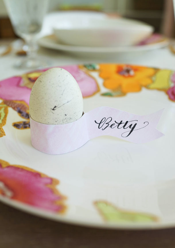 Diy egg holder place cards camille styles diy easter egg holder placecards camille styles pronofoot35fo Images
