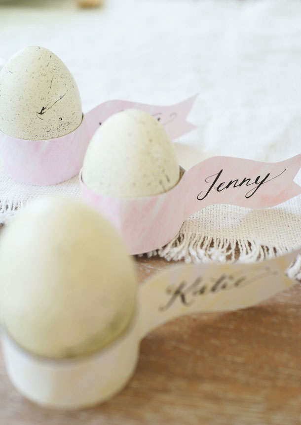 DIY Easter Egg Holder Placecards | Camille Styles