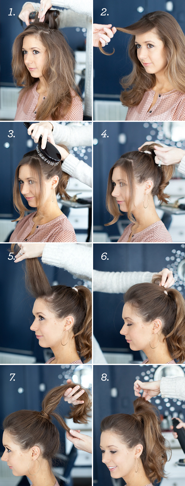 High Pony Tutorial with Martha Lynn Kale | Photos by Kate Stafford for Camille Styles