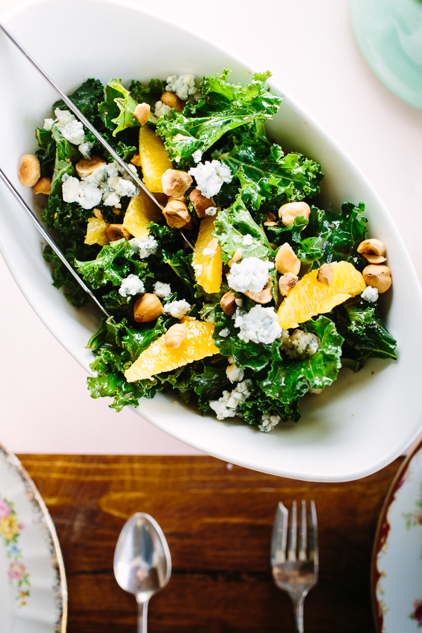 kale salad with blood oranges & hazelnuts | photo by Wynn Myers for Camille Styles