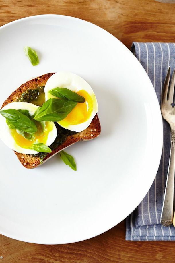 Morning Meals :: Basil Pesto & 6 Minute Egg on Toast