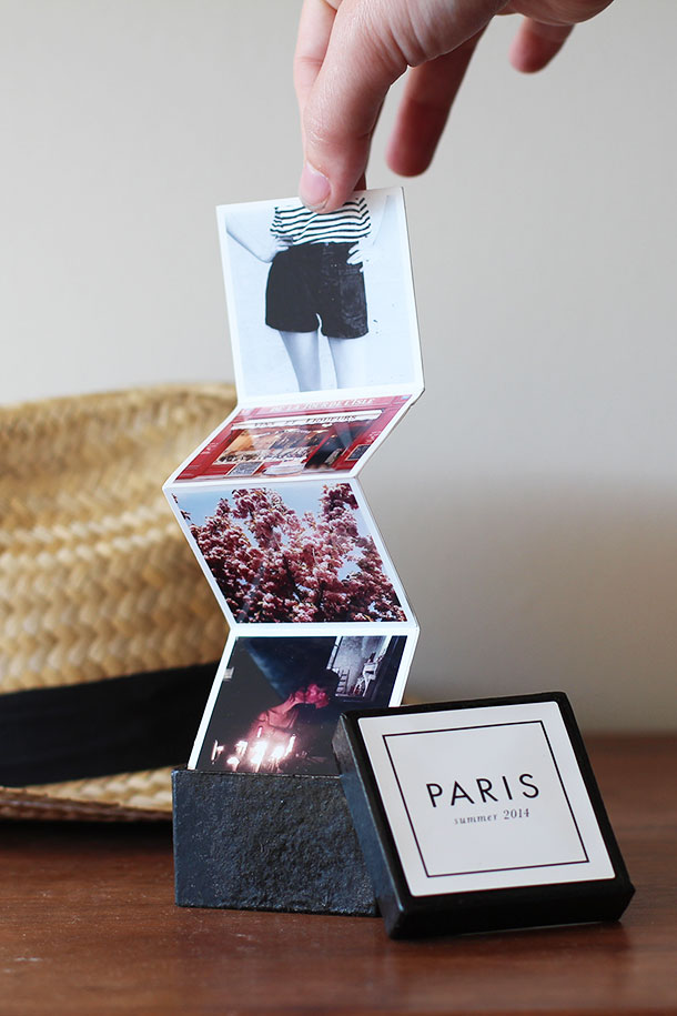 crafting with canon tiny travel album in a box camille styles. Black Bedroom Furniture Sets. Home Design Ideas