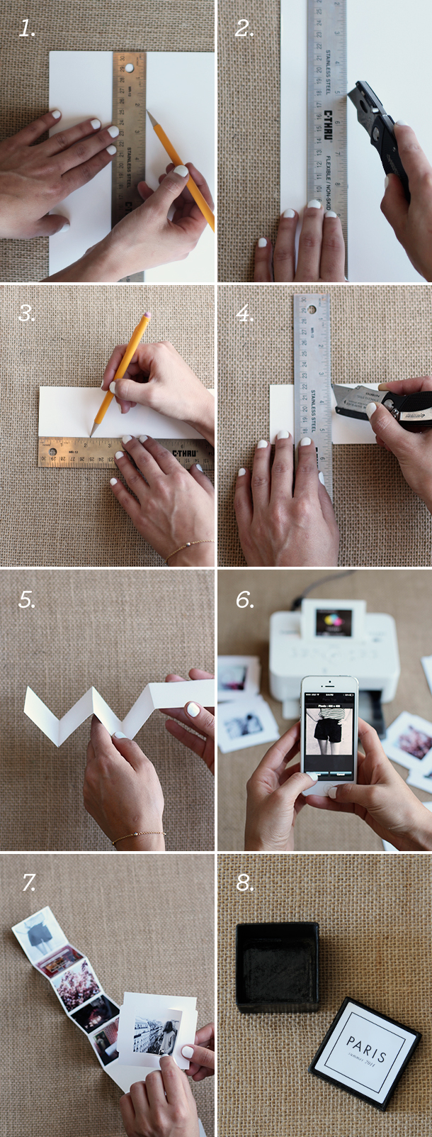Crafting With Canon Tiny Travel Album In A Box Camille Styles