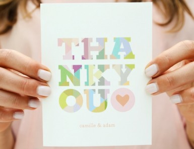 Camille's Thank You Notes from Minted | Photography by Emma Banks for Camille Styles