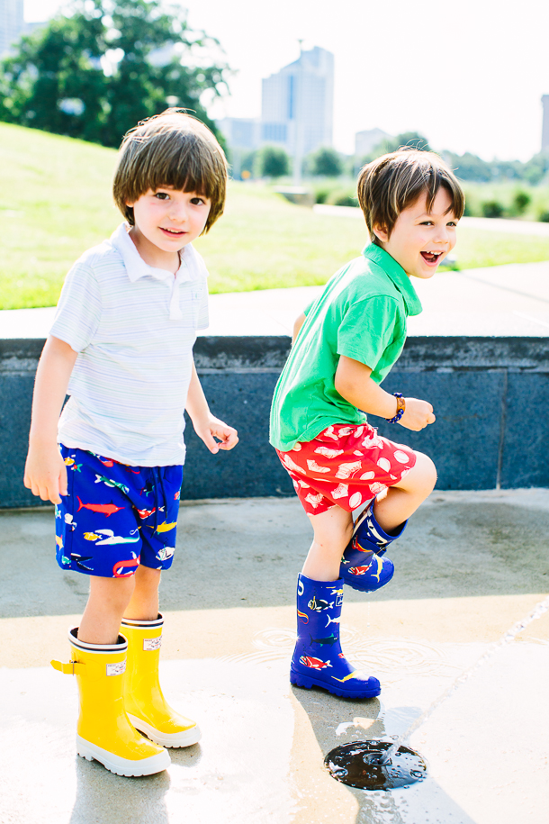 Splash Pad with Joules | Photography by Wynn Myers for Camille Styles