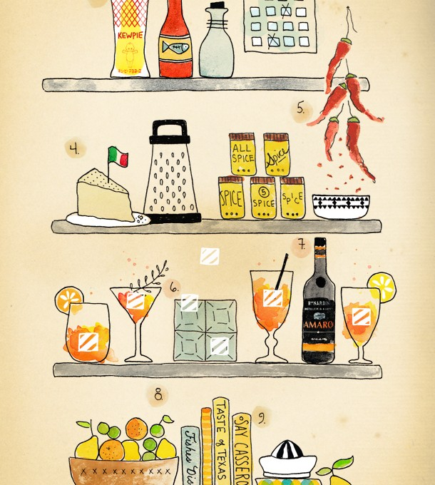 Courtney McBroom's Essentials   Illustration by Kelly Colchin for Camille Styles