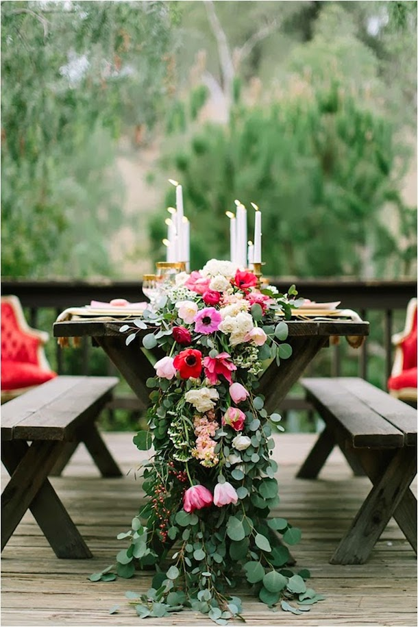 floral table runner, photo by Ashley Tingley | Camille Styles