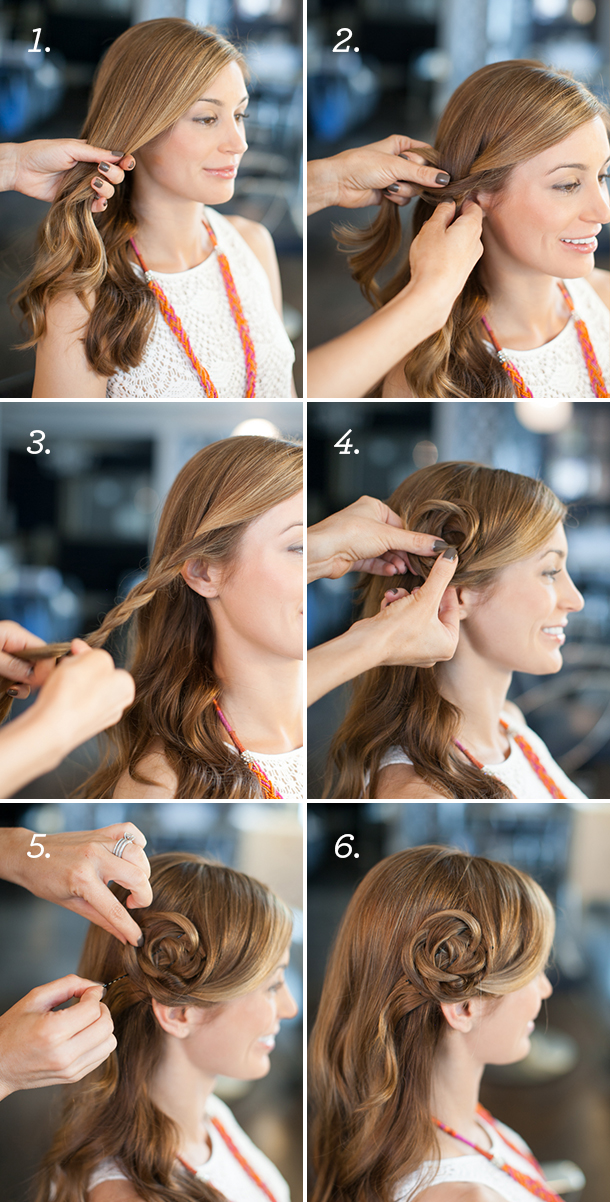Hair Flower Tutorial | Martha Lynn Kale for Camille Styles