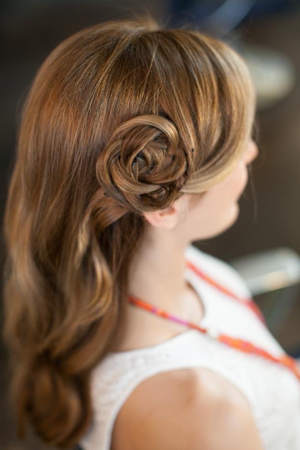 Pretty simple hair flower camille styles hair flower tutorial martha lynn kale for camille styles mightylinksfo