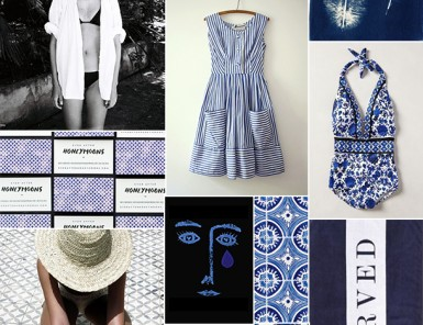 Indigo Inspiration Board | Camille Styles