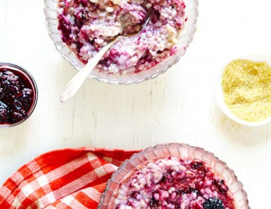 Creamy Cracked Oats with Blackberry Lemon Verbena Compote | Julia Gartland for Camille Styles