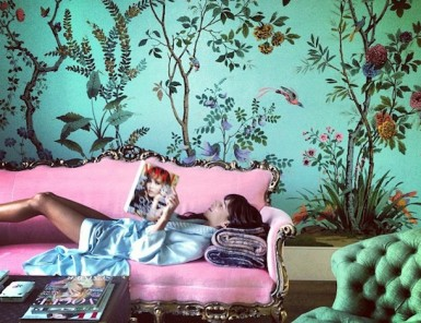 Weekend lounging & gorgeous wallpaper | Camille Styles
