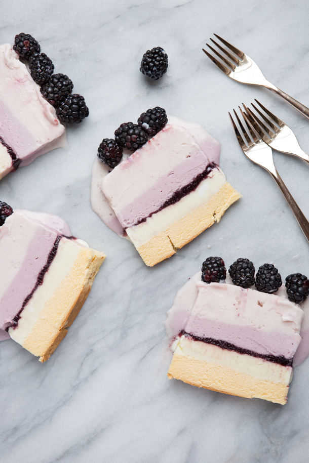 Summer Berry Ice Cream Cake | Camille Styles