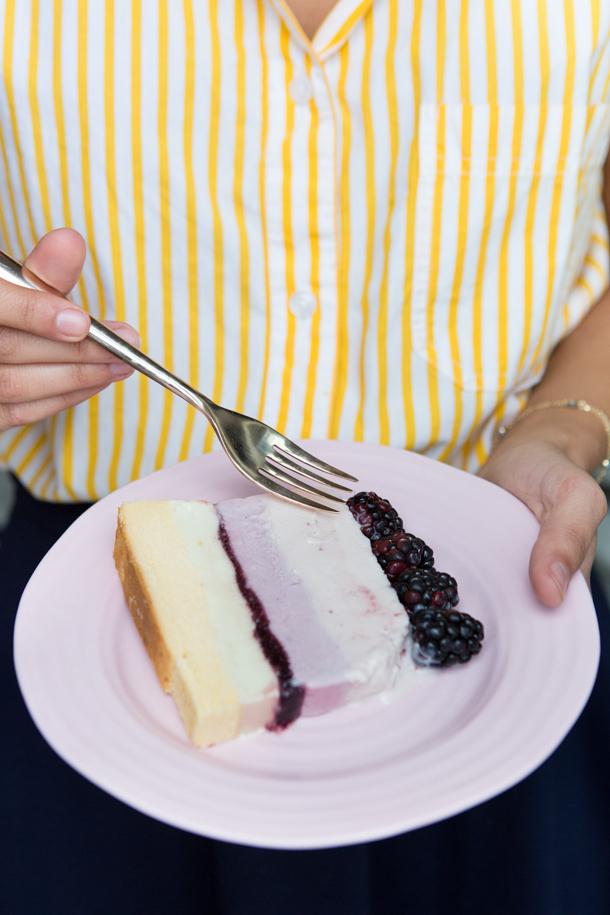 Summer Berry Ice Cream Cake | Camille Styles