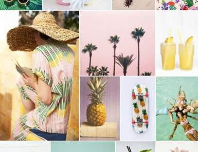 Pina Colada Inspiration Board | Camille Styles