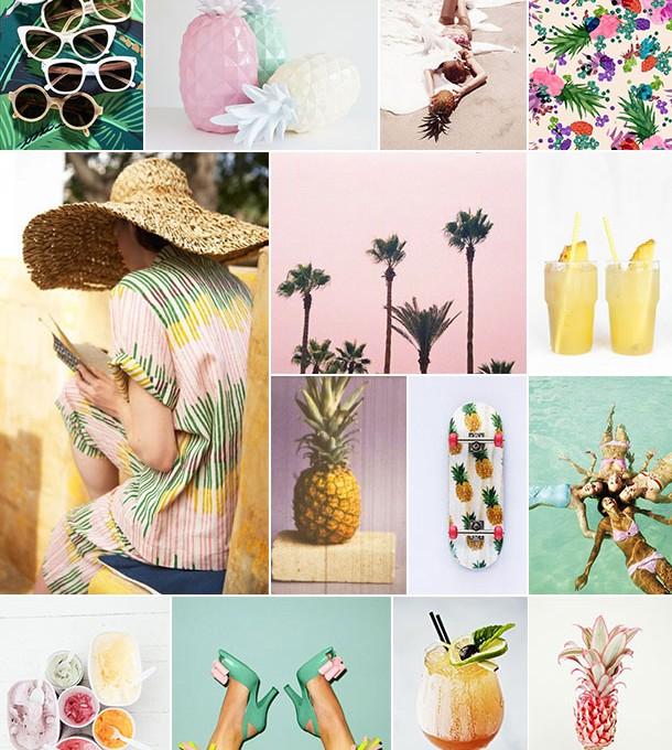 Pina Colada Inspiration Board | Camille Styles