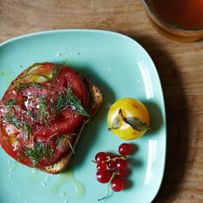Savory Breakfast Tartine   Camille Styles