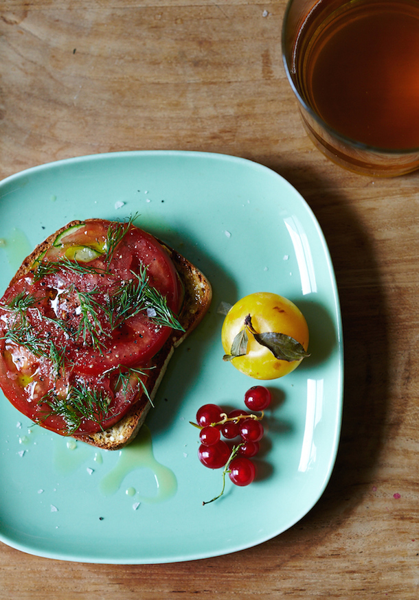 Savory Breakfast Tartine | Camille Styles