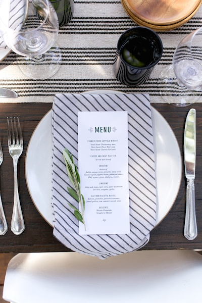Wine Country Inspired Place Setting