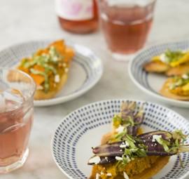Carrot Pesto Bruschetta | Camille Styles