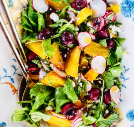 Cherry & Golden Beet Salad recipe | Camille Styles