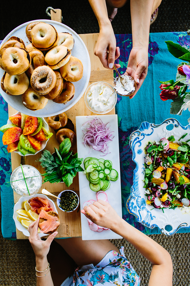 How to Setup the Ultimate Bagel Bar | Camille Styles