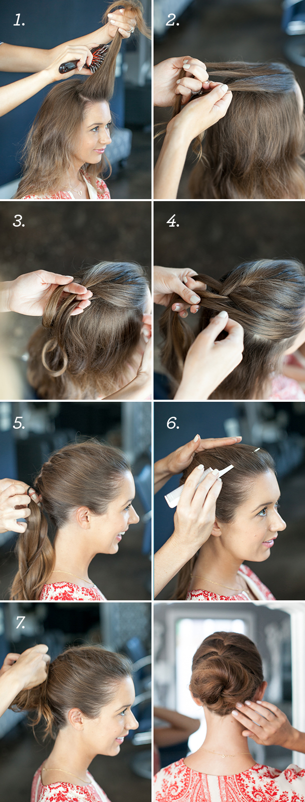 Pretty simple french braid bun camille styles french braid bun tutorial camille styles newpostlabelinstructions solutioingenieria Gallery