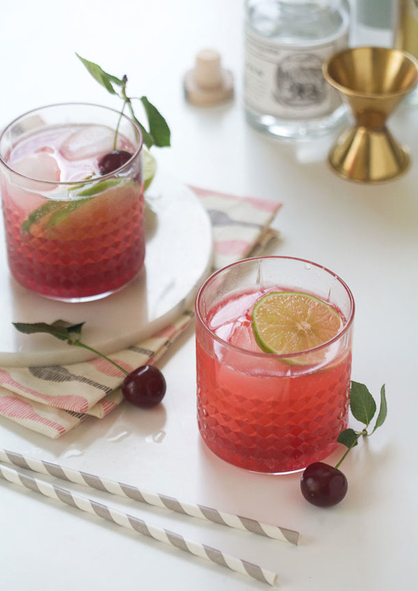 Sour Cherry Gin & Tonic