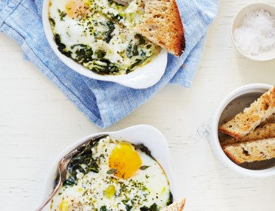 Baked Egg with Ricotta, Thyme & Chervil | Photography by Julia Gartland for Camille Styles