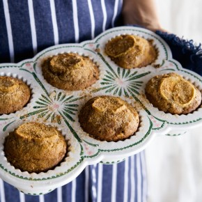 salted caramel apple muffins