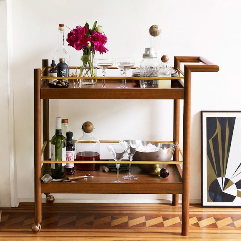 Mid-Century Bar Cart from West Elm