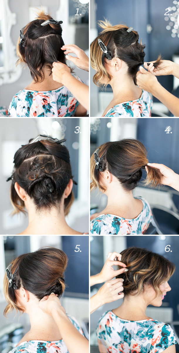 Updo For Short Hair Tutorial Camille Styles