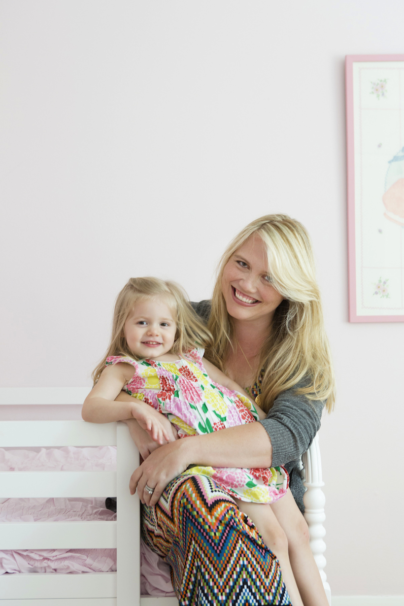 Mother Daughter in Pink Room