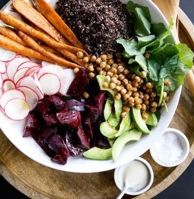 Root Vegetable & Quinoa Salad with Tahini-Maple Vinaigrette