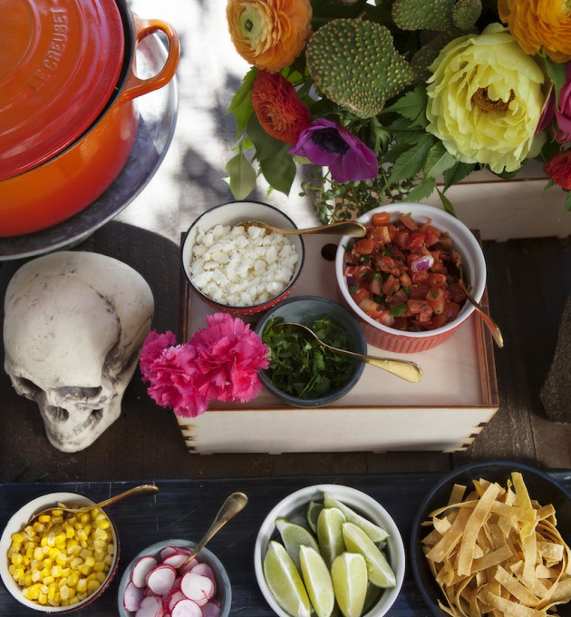 colorful toppings for posole