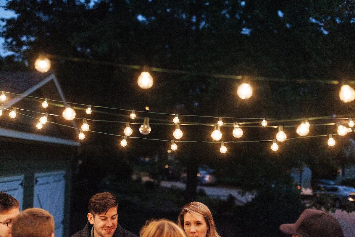 bulb lights outside
