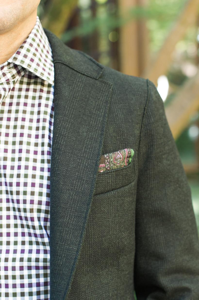 men's seersucker shirt and blazer