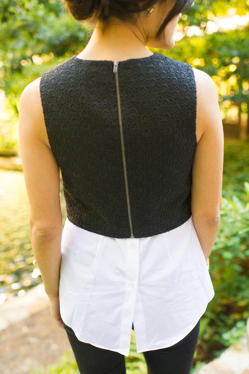 zip-back blouse