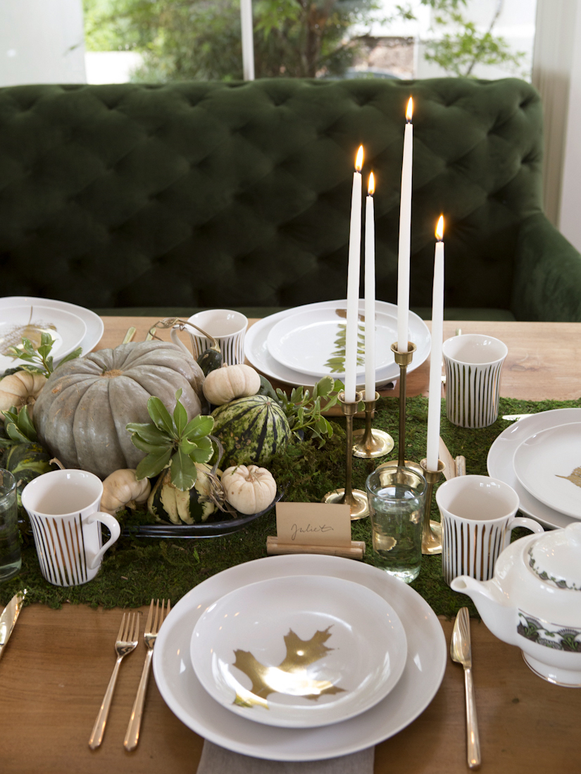 Decorating for thanksgiving using natural materials