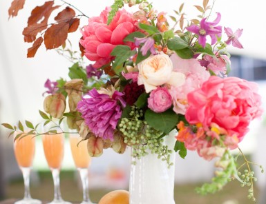 Fall Flowers, Camille Styles book signing, Hotel Ella