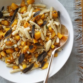 brown butter pumpkin pasta | Camille Styles