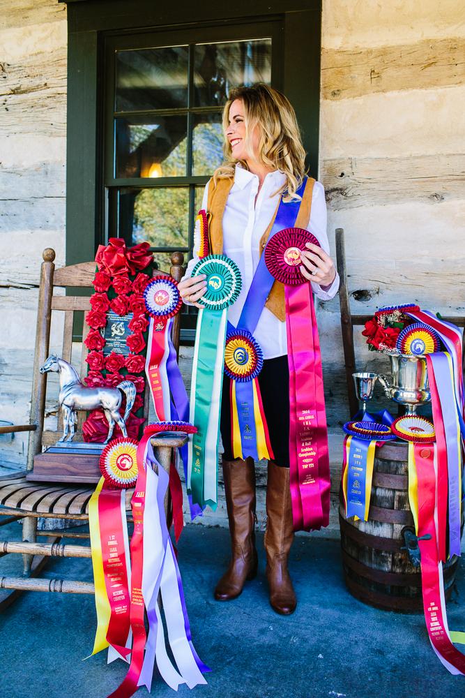 Quincy DeSpain Ellis and Equestrian Ribbons