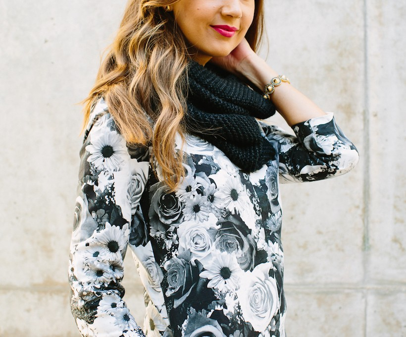 Gap Styld.by Floral Mockneck Dress   Camille Styles