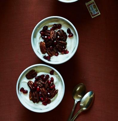 pomegranate pecan yogurt