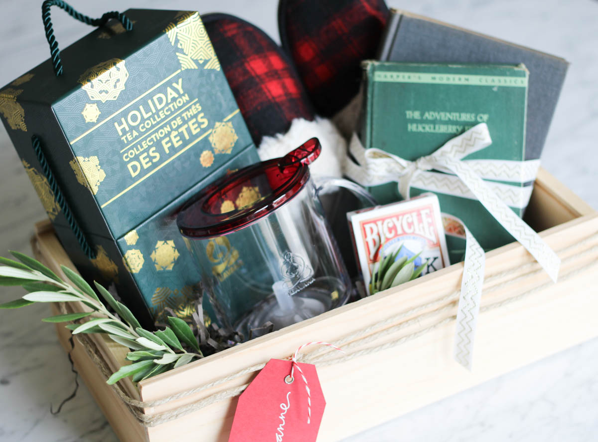 """Snow Day Survival"" Gift Basket for the Homebody or Bookworm"