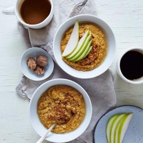 Creamy Pumpkin Oat Bran Porridge
