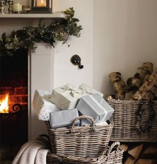 christmas gifts & fireplace