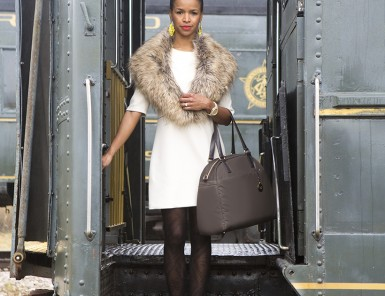Tiffany Dixon Kerr with Lo & Sons Travel Bag