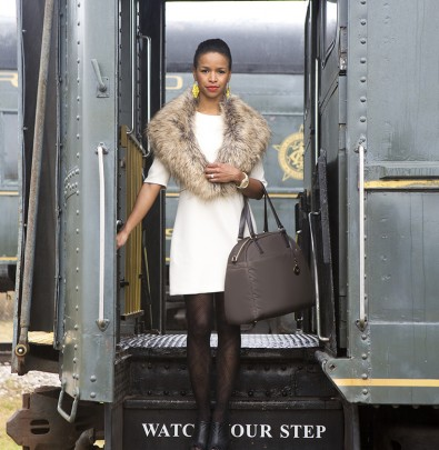 Tiffany Dixon Kerr with Lo & Sons Travel Bag
