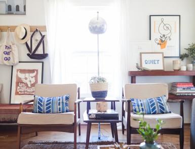modern family living room of Steven & Christine Visneau